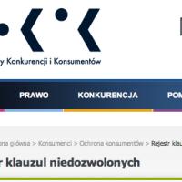 Klauzule niedozwolone w regulaminach sklepów internetowych